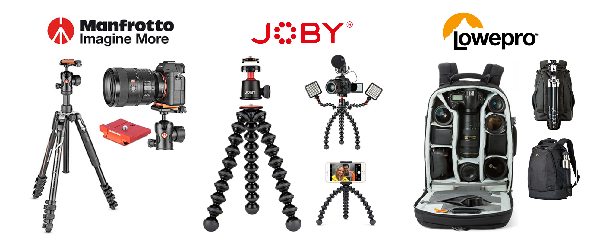 anfrotto-joby-lovepro